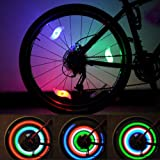 LEBOLIKE Bike Spoke Lights Cycling Bike Wheel Lights for Bicycle Decoration 6 Pack - Batteries Included