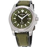Men's Citizen Eco-Drive Promaster Tough Military Green Watch BN0211-09X