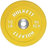HulkFit Olympic 2-Inch Rubber Bumper Plate with Stainless Steel Insert