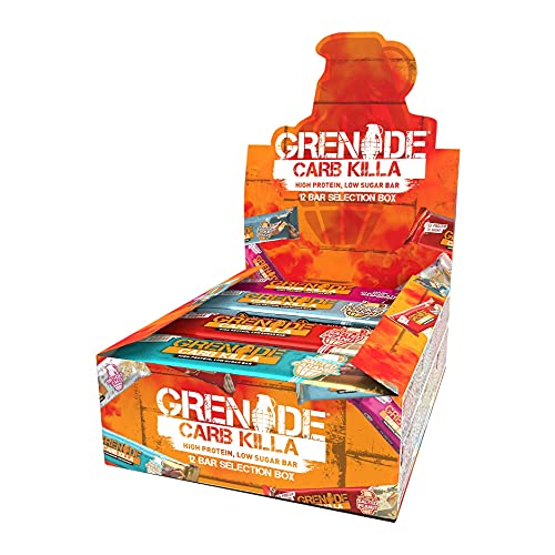 Grenade Carb Killa High Protein and Low Carb Bar, 12 x 60 g - Selection Box