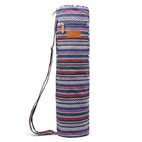ELENTURE Yoga Mat Bag, Yoga Mat Carrier Full-Zip Exercise Yoga Mat Carry Bag for Women Men with Multi-Functional Storage Pockets and Adjustable Shoulder Strap