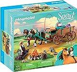 PLAYMOBIL DreamWorks Spirit Papá de Fortu y Carruaje, a Partir de 4 Años (9477)