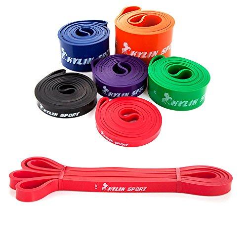 Kylin Sport Banda Elastiche Fitness Fasce Elastiche di Resistenza per Peso/Yoga/Danza/Pilates Fascia...