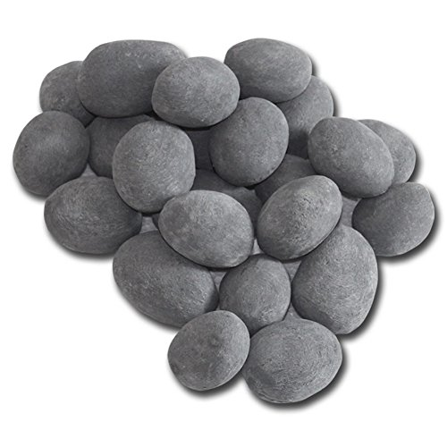 24-Piece Ceramic Stones, Grey Gel Fireplace bioethanol Burner Decoration Plant Bowl Table Decoration