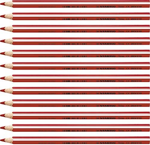 Matita colorata triangolare - STABILO Trio thick - Confezione da 12 - Rosso