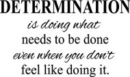 """CreativeSignsnDesigns Determination- Motivational Quote Fitness Life Gym Vinyl Wall Decal (Black, 22""""x13"""")"""