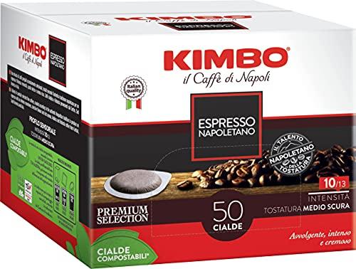 Kimbo Cialde Caffè Compostabili ESE 44mm Espresso Napoletano, 18 Pacchi da 50 Cialde (Totale 900 Cialde)