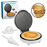 Waffle Cone and Bowl Maker- Includes Shaper Roller and Bowl Press- Homemade Ice Cream Cone Iron...