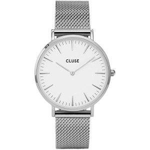 CLUSE Womens Analogue Classic Quartz Connected Wrist Watch with Stainless Steel Strap CL18105