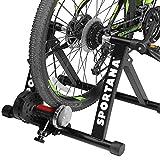 Sportana Home Trainer vélo entraîneur de vélo Max. 150kg Noir Pliable...