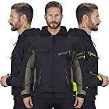 Viking Cycle Unshackled 2 Piece Textile Mesh Motorcycle Jacket & Hoodie for Men