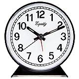 Equity by La Crosse 14075 Black Analog Wind-Up Alarm Clock