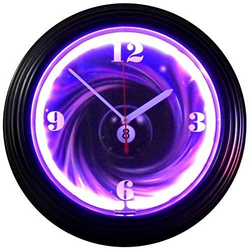 Eight Ball Swirl Neon Clock