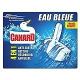 Canard WC Blocs cuvette eau bleue marine - Les 2 blocs de 40g