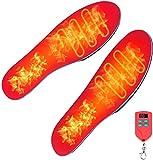 Électrique Semelles Chauffantes avec Télécommande, Taille Ajustable, Li-batterie Rechargeable Intégrée, Réglage de la Température à 3 Vitesses, Unisexe Chauffe-pieds Chauffants pour Chasse ou Pêche