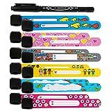 Bracelet Identification Enfant, BelleStyle ID Bracelet, 12 Pack Infoband...