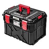 Maletín de herramientas XXL de plástico negro, vacío, para taller