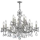Maria Theresa 12 Light Clear Crystal Chrome Chandelier