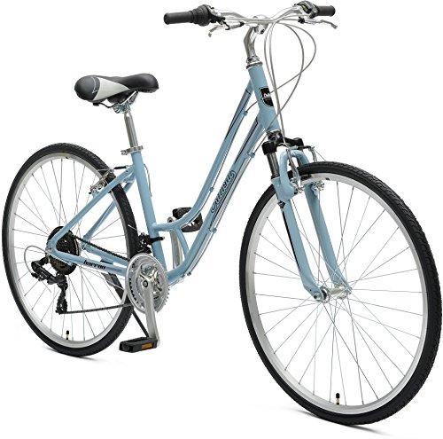 Critical Cycles Women's Barron Hybrid 21 Speed Bike, Powder Blue, 14'/X-Small