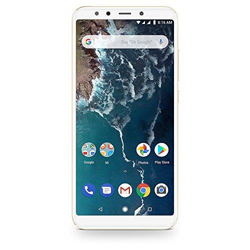 "Xiaomi Mi A2 (128GB + 6GB RAM) 5.99"" FHD Display, Dual Camera's, 4G LTE Android One Smartphone - International Global 4G Version (Gold)"