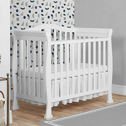 Product Image 2: Dream On Me Addison 4-in-1 Convertible Mini Crib in White, Greenguard Gold Certified