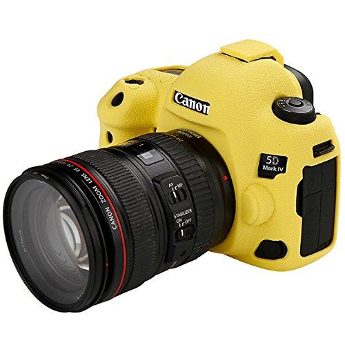 STSEETOP スキンカバー シリコン保護ケース (Canon 5D Mark IV, イエロー)