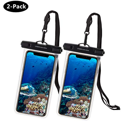 UNBREAKcable [2-Pezzi] Custodia Impermeabile Universale - Borsetta Impermeabile IPX8 Dry Bag per Telefono per iPhone XS Max/XR/XS/X Samsung Galaxy S10Plus/ S10 Huawei P30 PRO/ P30 Fino a 6.6 Pollici