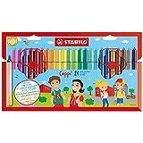 Feutre de coloriage - STABILO Cappi - Étui carton de 24 feutres pointe moyenne...