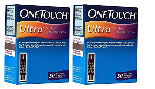 OneTouch Ultra 100 Strips Box (2 Pack of 50 Each)