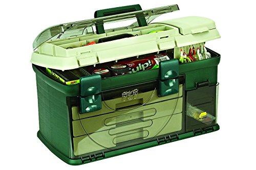 Plano - Cassetta per attrezzi a 3 cassetti, colore: Verde metallizzato/Beige