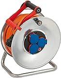 Brennenstuhl Garant S IP44 Kabeltrommel (40m Kabel in orange, Stahlblech, Einsatz im Außenbereich, Made in Germany)