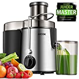 Juicer Centrifugal Juicer Machine Wide 3 Feed Chute Juice Extractor Easy to Clean, Fruit Juicer with Pulse Function and Multi Speed control, Anti-drip , Stainless Steel BPA-Free