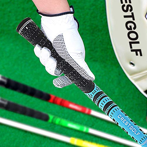Product Image 4: Multi -Compound Golf Grips,Mid Size All-Weather Control Thread Technology Rubber Combine with Carbon Yard, Anti-Slip-Set of 13(Blue,midsize)