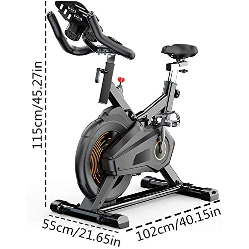 YFFSS Exercise Bike, Indoor Smart Exercise Bike, Home Silent Stationary Bike, Safety Non-Slip Pedal, with Moving Roller and Level Adjuster, Suitable for Offices, Gyms 3