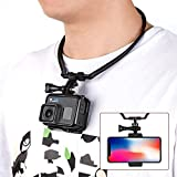 Taisioner POV/VLOG Smartphone Selfie Neck Holder Mount for GoPro AKASO Action Camera and Cell Phone Video Shoot Accessories