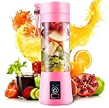 Swaroop 6 blade Portable Blender, Personal Size Electric Rechargeable USB Juicer Cup, Fruit Mixer Machine with 6 Blades for Home and Travel ( Multicolor) Pack of 1