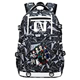 XYUANG My Hero Academia Deku/Todoroki Shoto/bakugou Katsuki USB Mochila Boy Girl Kindergarten Bag Niños Backpack Escolares-D