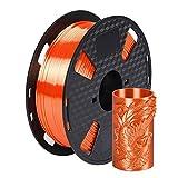 Silk Orange PLA Filament 1.75 mm 3D Printer Filament FDM Printing Materials 1KG 2.2LBS Spool Silky Shiny Shine Gold Silver Copper Green Orange PLA HZST3D
