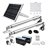 DC House Solar Gate Opener Kit Heavy-Duty for Dual Swing Automatic Gate Operator,Up to 16 feet/1320 Pound