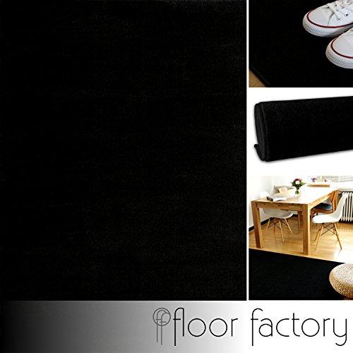 floor factory Tappeto Moderno Kolibri Nero 140x200cm - Colori Vivaci e Facile da Pulire