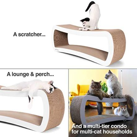 PetFusion-Jumbo-Cat-Scratcher-Lounge-39-x-11-x-14-inches-lwh-Superior-Cardboard-Construction-Significantly-outlasts-Cheaper-alternatives