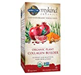 Garden of Life mykind Organic Plant Collagen Builder - Vegan Collagen Builder for Hair, Skin and Nail Health, 60 Tablets *Packaging May Vary*