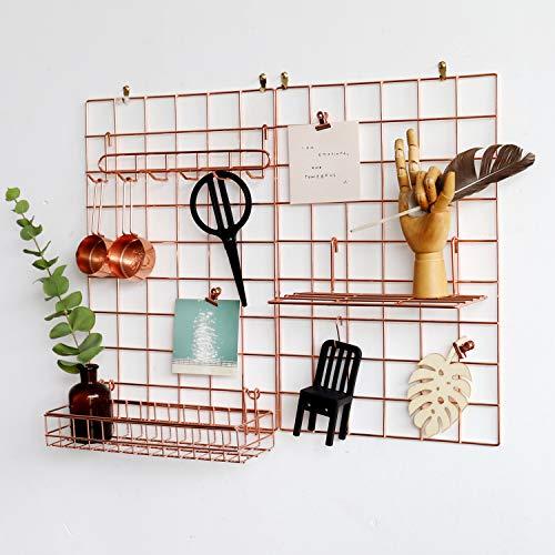 FRIADE Wall Grid Panel for Photo Display,Wall Storage Organizer,5...