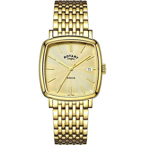 Rotary Herren Uhr Windsor mit vergoldetes PVD-Finish GB05308/03