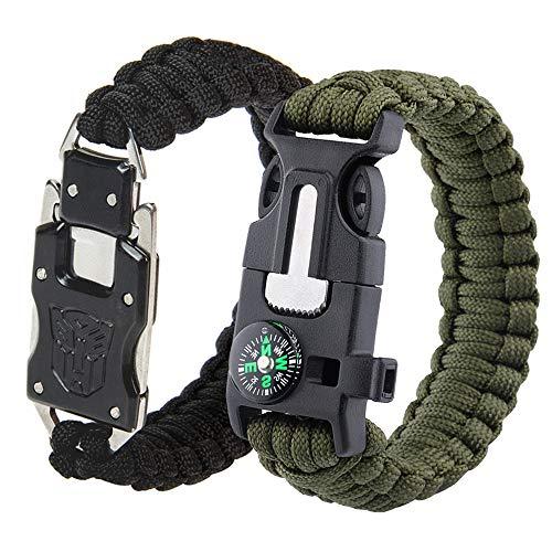 BASON Paracord Bracelet Kit Lot de 2 pour la Survie en Plein air, Anastasia...