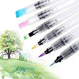 Bolígrafos y pinceles de acuarela