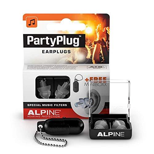 Alpine PartyPlug Bouchons d'Oreille Protection Auditive pour fêtes,...