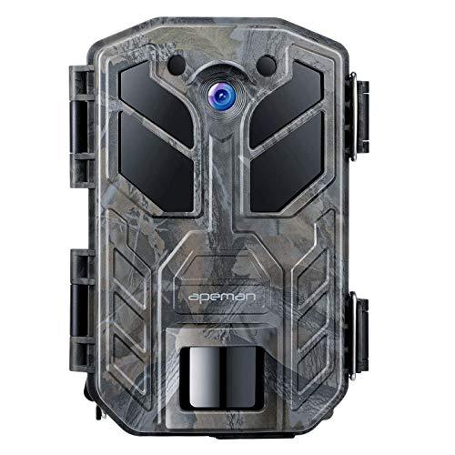 APEMAN Fototrappola 30MP 4K Fotocamera Caccia con Visione Notturna a infrarossi 850NM LED Fino a 65 piedi/20m IP66 Impermeabile per Esterni Natura, Giardino, sorveglianza di Sicurezza della Pelle