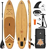 VWB Inflatable Stand Up Paddle Board (11'×33'×6') SUP Board Accessories with Non-Slip Deck Backpack Waterproof Bag Adj Paddle Board Manual Air Pump Leash Caudal Fin Adj Paddle for Youth & Adult