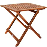 Deuba Gartentisch Klapptisch Akazie Holz Klappbar Beistelltisch Holztisch